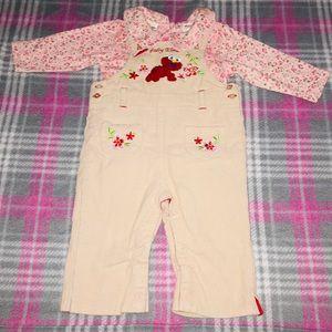 Baby Elmo Overalls And Onesie Set 6-9 Months